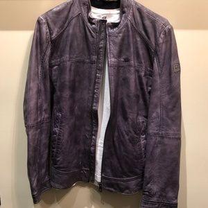 Hugo Boss Orange Lamb Leather Bomber Jacket